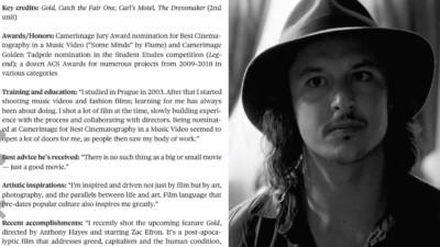 Nine That Shine: AC's 2021 Rising Stars of Cinematography